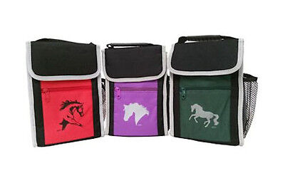 Horse & Western Travel Picnic Horse Print Lunch Cooler Bag By Lila Blakeslee Red