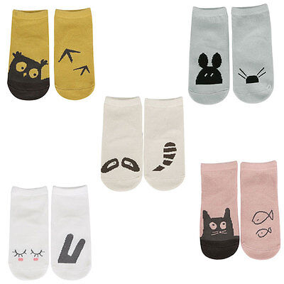 UK Animal Baby Gripper Socks Anti Non Slip Indoor Walking Toddler Grip Boy Girl