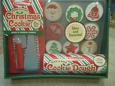 Melissa & Doug Slice and Bake Wooden Christmas Cookie Play Food ...
