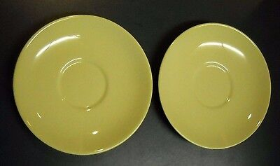 """Vtg Pair Of Lu-Ray Pastels Yellow 6"""" Saucer Plate Taylor Smith Taylor"""