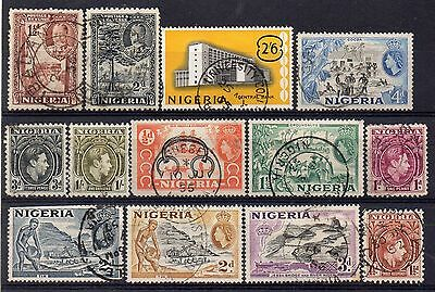 NIGERIA = New selection of mostly FINE USED stamps, all shown. Odd fault.