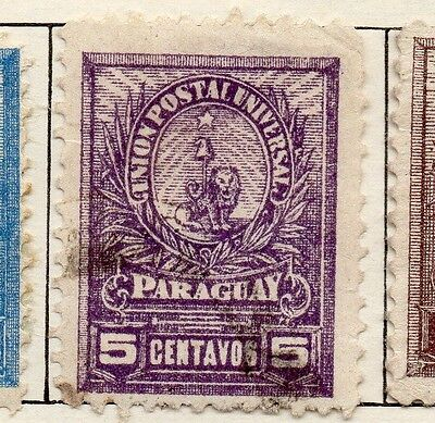 Paraguay 1901-02 Early Issue Fine Used 5c. 036866