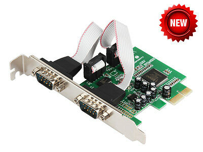 IOCrest Industrial 2-port RS-232 Serial PCI-E Multi-serial Card RS232 DB9