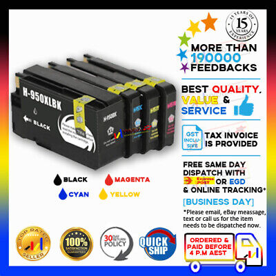 4 HP 950XL Black + HP 951XL C/M/Y High Yield Ink Set For HP Officejet Pro 8600