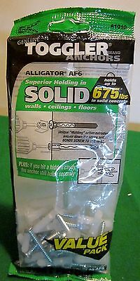 "Bag - (20) w/Screws TOGGLER® ALLIGATOR® AF6 1/4"" dia. Flanged Solid-Wall Anchor"