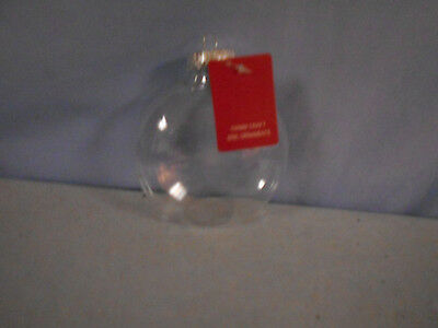 Clear Plastic Crafts Round Shaped Ornaments