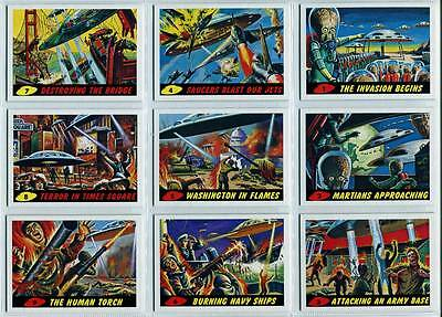 Topps Mars Attacks Heritage 55 Card Set + Deleted Scenes + New Uni + 3D  Sets