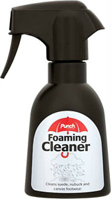 Punch Foaming Cleaner Cleans Suede Nubuck & Canvas Footwear Shoes 200ml