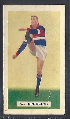 Hoadleys-Victorian Football Ers (Action)-Aussie Rules-#016- Footscray - Spurling