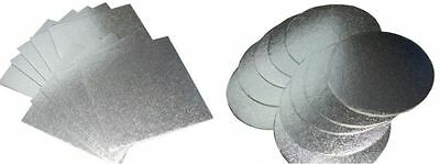 *1.2mm Thick Cake Boards. Round & Square. 5,10 and 25 packs. Cake Decoration2