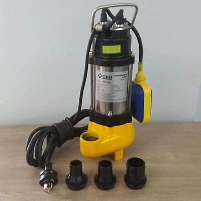 450W Stainless Steel Submersible Dirty Water Pump Bore Well Tank Garden Bilge