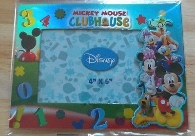 """BRAND NEW DISNEY MICKEY MOUSE CLUB HOUSE 4""""x 6"""" PICTURE PHOTO FRAME"""