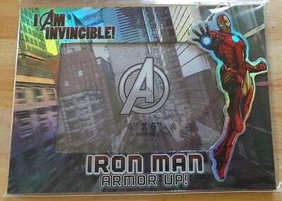 """BRAND NEW MARVEL  AVENGERS ASSEMBLE IRON MAN 4""""x 6""""  PICTURE PHOTO FRAME"""