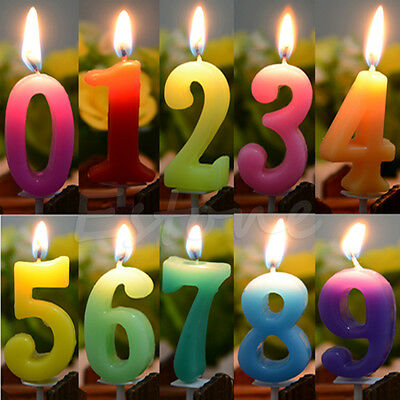 Numbers Birthday Festival Cake Candle Party Celebration Candle Glim Wax Bougie