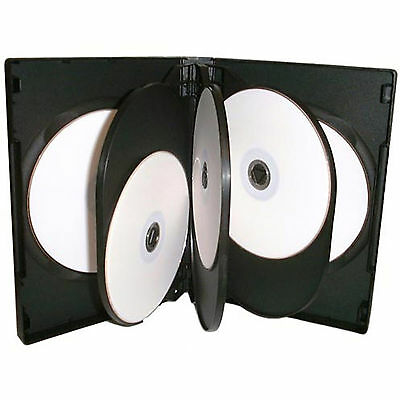 CD DVD 27mm Black DVD 8 Way Case for 8 Disc 1 5 10 25 50