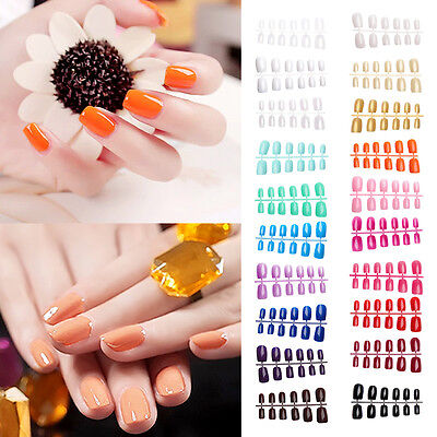 Medium Full Cover Flexi False Nails Art Top Quality Full Cover Short UK seller