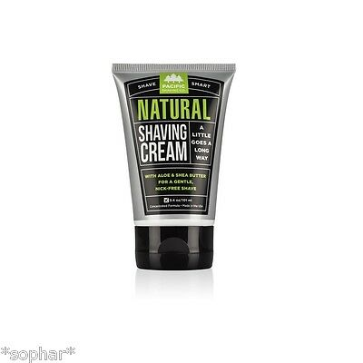 NEW Pacific Shaving Company Natural Shave Cream 101ml - Vegan - Up to 100 shaves