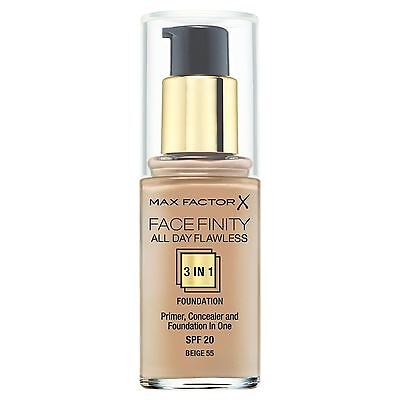 Max Factor All Day Flawless 3-in-1 Foundation - Beige 55