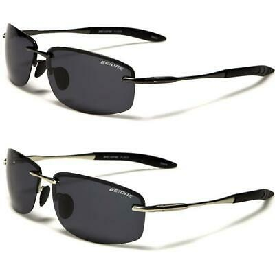 Designer Polarized Sports Metal Sunglasses Wrap Rimless Polarised Mens Ladies