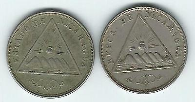 Better Grade 1898 And 1899 Nicaragua 5 Centavos
