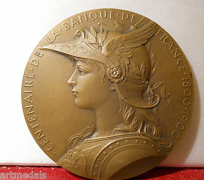 1900 RARE FRENCH ART NOUVEAU MEDAL BANK FRANCE by ROTY