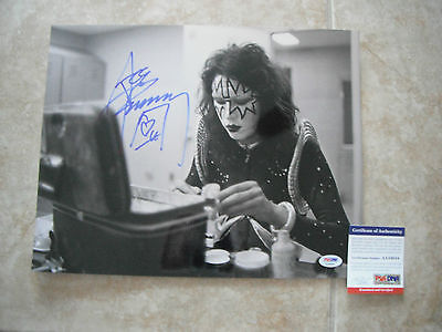 Kiss Ace Frehley Signed Autographed 11x14 B&W Photo PSA Certified #1