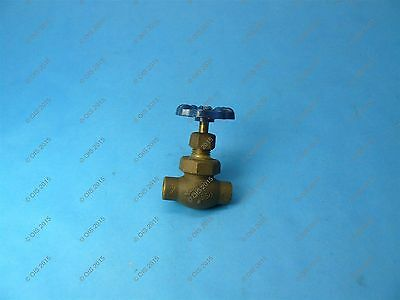 """Nibco 626 Stop Valve w/ Drain 3/8"""" Solder Connections 150 WOG"""