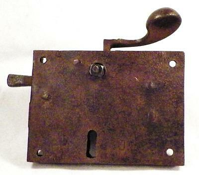 Antique Iron Dutch Elbow Lock Door Hardware No Keeper Restoration # 4