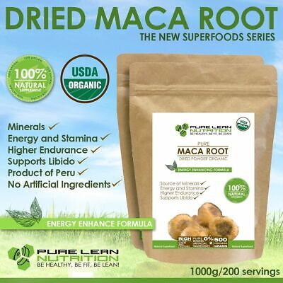 Maca Premium Organic Usda Certified 1Kg Superfood Powder Made In Peru