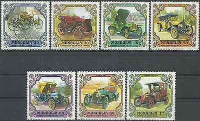 Timbres Voitures Mongolie 1081/7 ** lot 9089