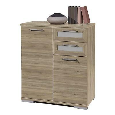 kommode 80 cm breit sonoma eiche anrichte highboard wohnzimmer flur m bel eur 119 95 picclick de. Black Bedroom Furniture Sets. Home Design Ideas