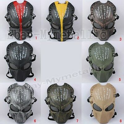 War Game Airsoft Paintball Strike Protection Predator Alien Hunter Mask #02