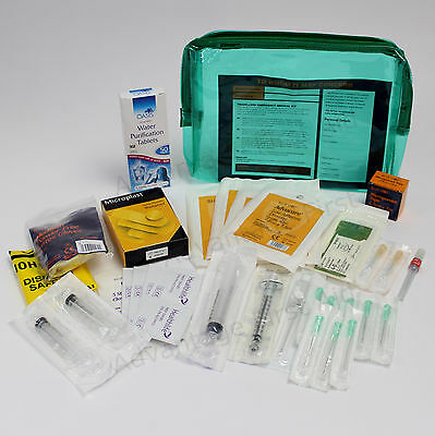 Overseas International Travel Complete Emergency Medical First Aid Kit in Bag