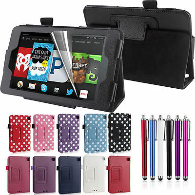 Smart Stand Leather Folio Case Cover For 2015 NEW Amazon Fire 7'' inch Kindle