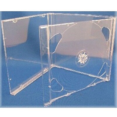 4 CLEAR DOUBLE JEWEL CD Cases (New)
