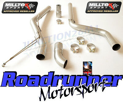 VW Caddy Milltek Exhaust 2.0 TDi 140PS 2WD Particulate Filter Back Non Res Disc