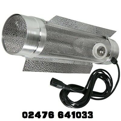 Air Cooled Reflector Grow Light Cool Tube Shade 125mm 150mm 200mm Hydroponic kit