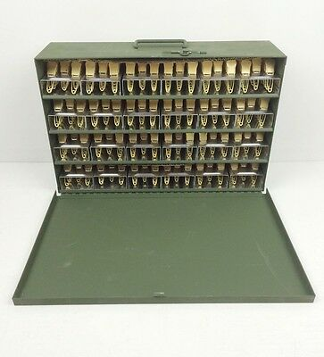 NEW (480) Brass Military Laundry Pins Numbered 1-24 in Green Case CHOICE: EFG