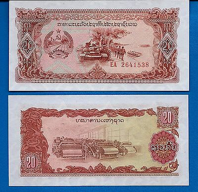 Laos P-28 20 Kip ND 1979 Tank Uncirculated Banknote