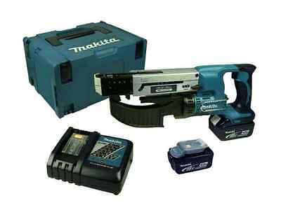 Makita DFR550RMJ 18V 2x4.0Ah Li-Ion Auto-Feed Screwdriver Makpac Kit
