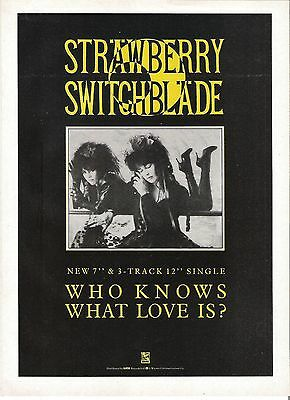 STRAWBERRY SWITCHBLADE Who Knows What Love  imagazine ADVERT/ Poster 11x8 inches