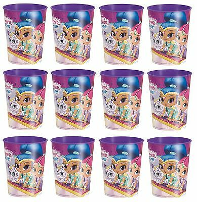 12x Shimmer and Shine Plastic Reusable Cups 16oz Keepsake Cups Birthday Party