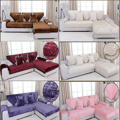 Super Thick Removable Flannel Sofa Couch Slipcovers Sofa Cover For 1 2 3 Seater