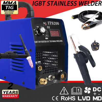 IGBT 200A Inverter DC TIG-MMA Welding Machine & COMPLETE ACCESSORIES NEW