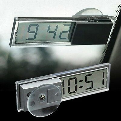 Auto Vehicle Suction Cup LCD Transparent Car Electronic Clock Digital Windshield