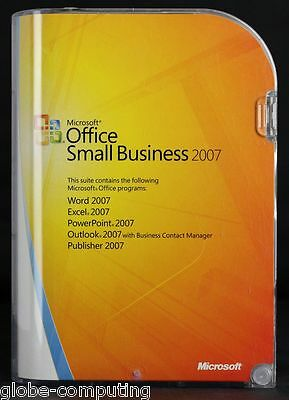 Microsoft Office 2007 Small Business inc Word Outlook Excel PowerPoint W87-01076