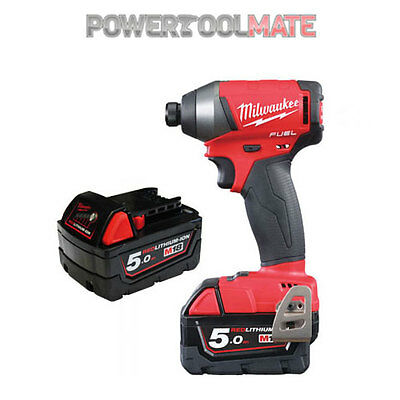 Milwaukee M18FID-502X 18v Fuel Impact Driver 2x 5Ah Batteries Charger with Case