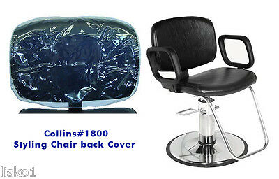Chair Back Cover (Collins 1800 Salon Styling Chair) Clear Vinyl