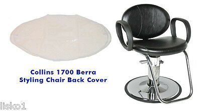 Collins 1700 Berra Salon styling Clear Heavy Duty Vinyl chair back cover