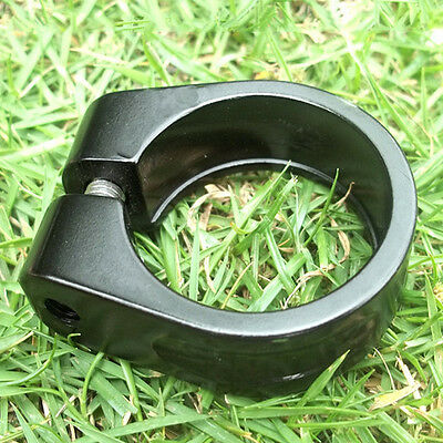 31.8mm Bicycle Cycling Seatpost Clamps Seat Clamp Collar Road Bike Black New